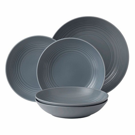 Gordon Ramsay by Royal Doulton Maze 5 delige Pastaset - Dark Grey