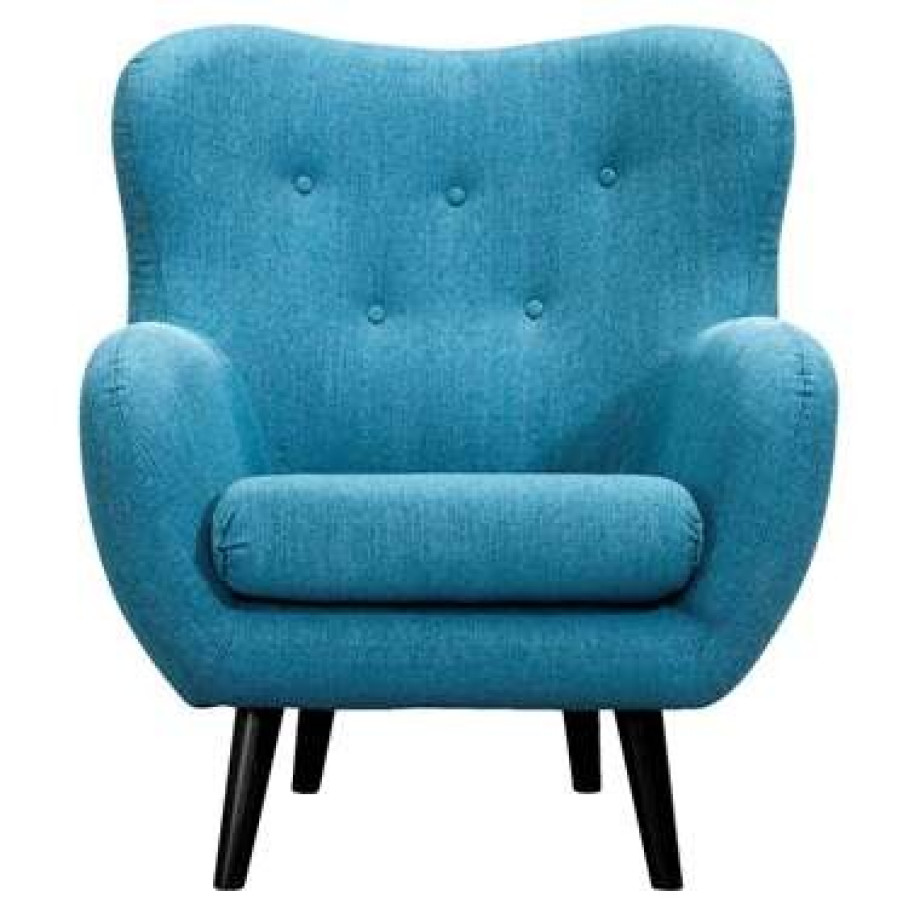 Fauteuil Viborg - stof - turquoise afbeelding