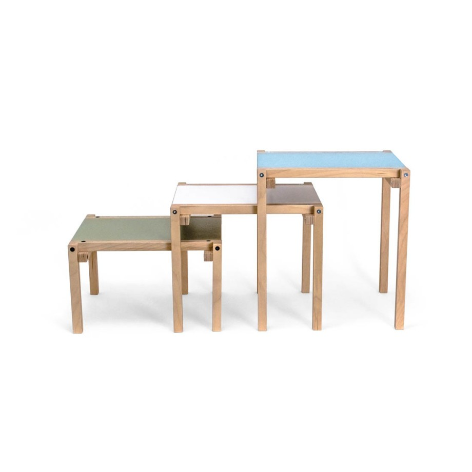 24mm Construction side table - Machine green 45 cm afbeelding