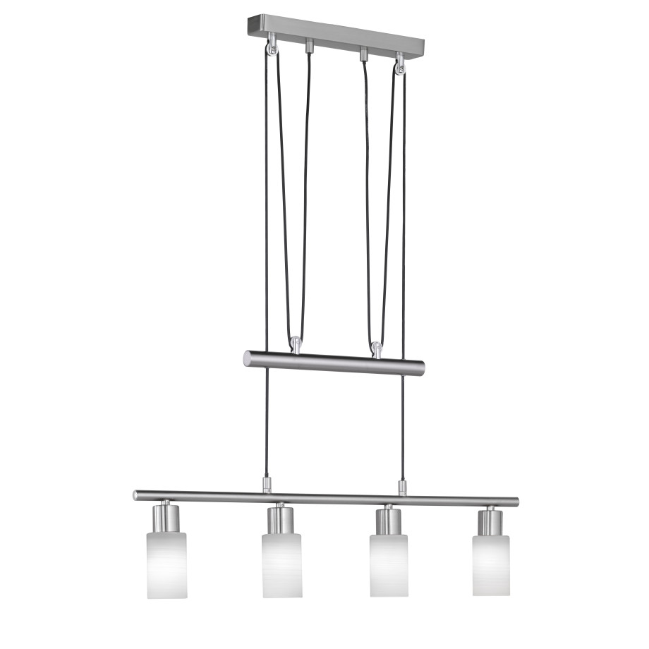 TRIO Hanglamp 'Serie 8714' LED, 4-lamps afbeelding