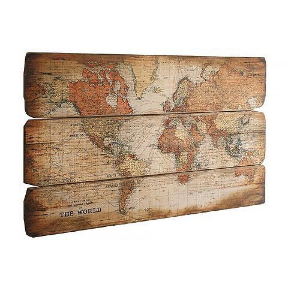 Artprint wereldkaart op mdf hout afgedrukt online kopen - Decoratie schilderij wc ...