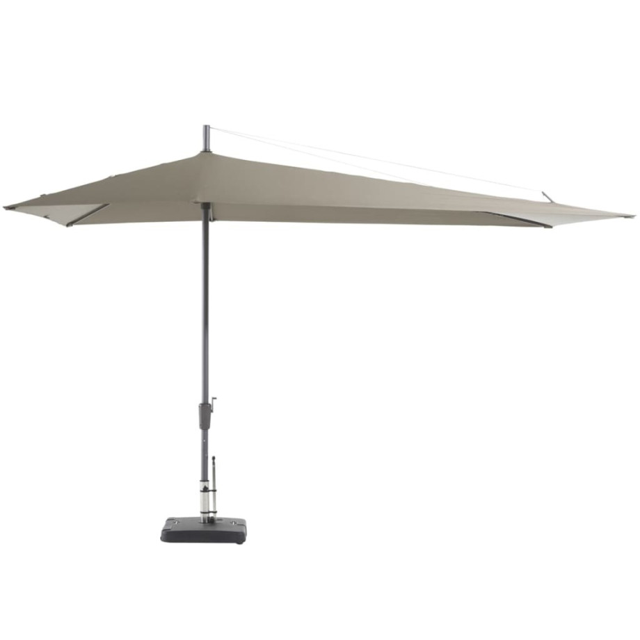 Madison Parasol Asymmetric Sideway 360x220 cm taupe PC15P015 afbeelding