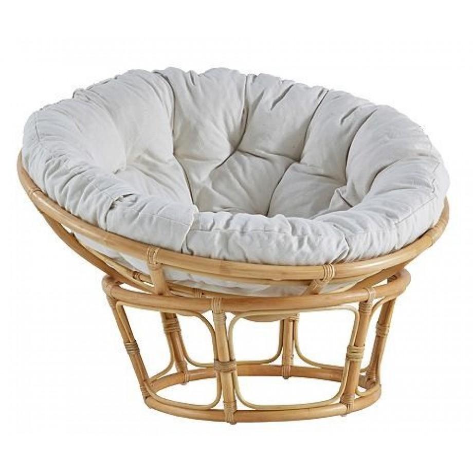 HOME AFFAIRE Papasan stoel met kussen beige