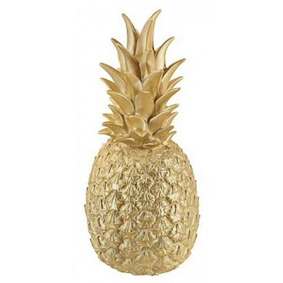 de goodnight light ananas in gouden kleur