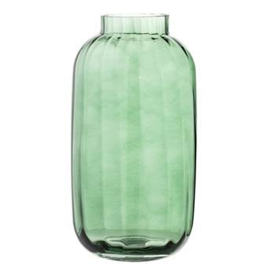 Bloomingville Green Glass Vaas afbeelding