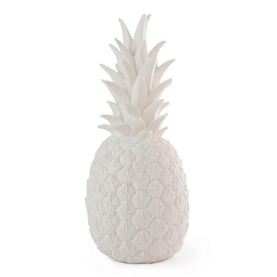 wit is het nieuwe zwart geldt ook natuurlijk voor de pineapple tafellamp