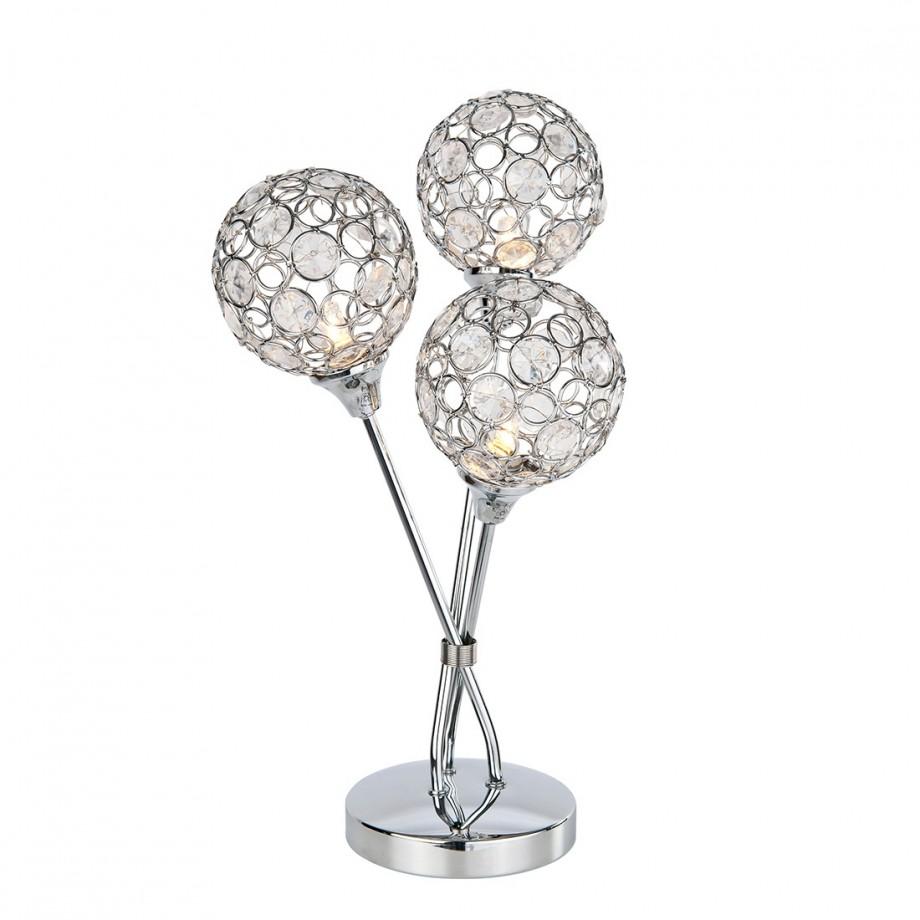halogeentafellamp carlo zilver metaal. Black Bedroom Furniture Sets. Home Design Ideas