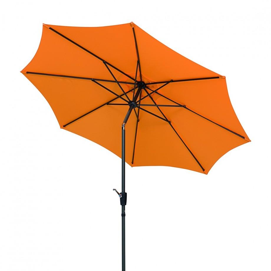 parasol harlem 270 grijs oranje metaal. Black Bedroom Furniture Sets. Home Design Ideas