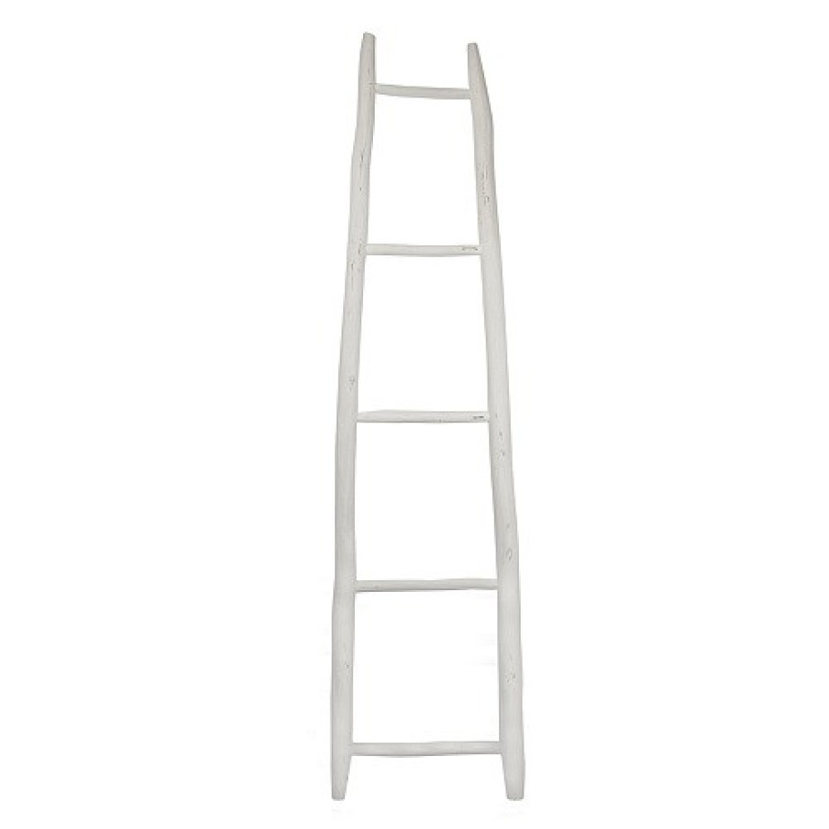 Household Hardware Ladder Luxe 200 cm - Wit afbeelding