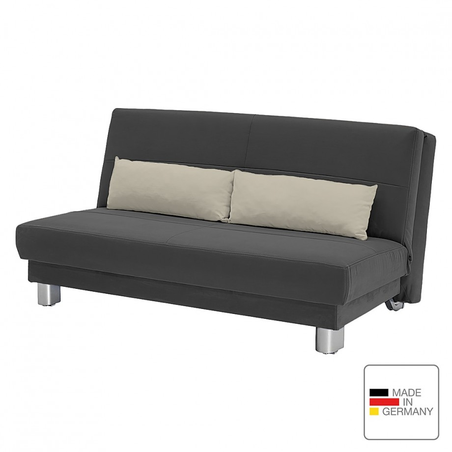 slaapbank motard grijs textiel studio monroe. Black Bedroom Furniture Sets. Home Design Ideas