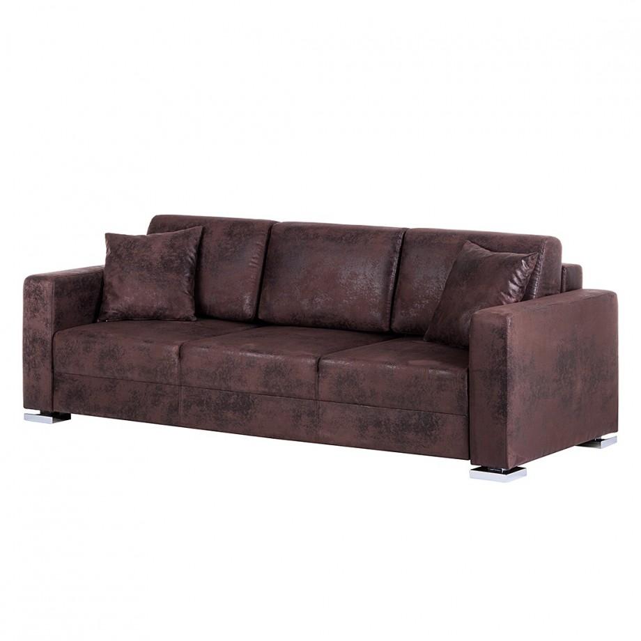 slaapbank reims bruin textiel mooved. Black Bedroom Furniture Sets. Home Design Ideas