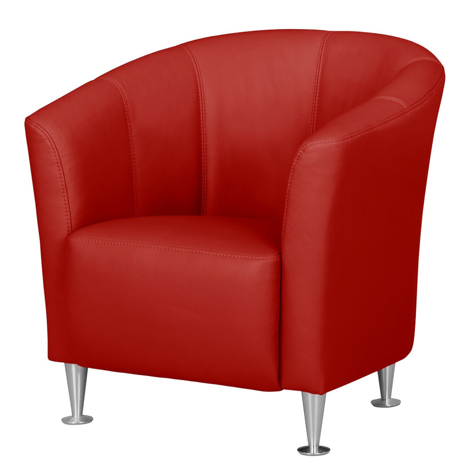 Fauteuil Rood Leer.Fauteuil Minga Fredriks Rood Echt Leer Home24