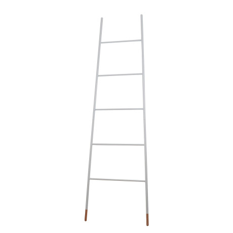 Decoratieve ladder - wit staal, Zuiver