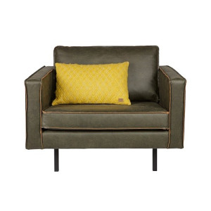 BePureHome Rodeo Loveseat Fauteuil 1,5 - Army