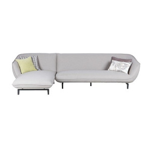 Basiclabel Bow 3-zits bank met chaise longue links of rechts grijs - Linkeruitvoering