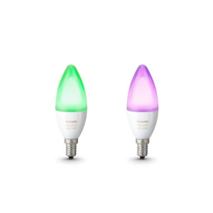 Philips Hue White and Color Ambiance Kaarslamp E14 - Duopack