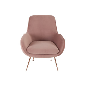 Moby fauteuil, oudroze fluweel