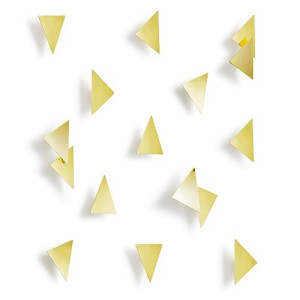 Umbra Confetti Triangles Wanddecoratie Set van 16 - Brons