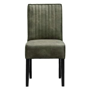 Harbo Eetkamerstoel stoel in groene fluweel