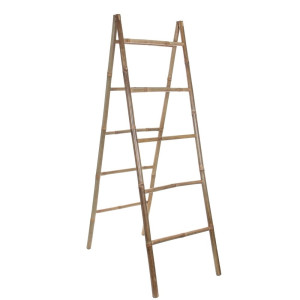 Mica Decorations Tropical Ladder Bamboe Lichtbruin - 10 x 50 cm