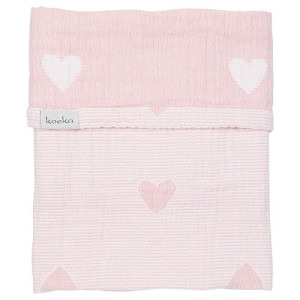 Koeka Altea Hearts Wiegdeken - Waterpink