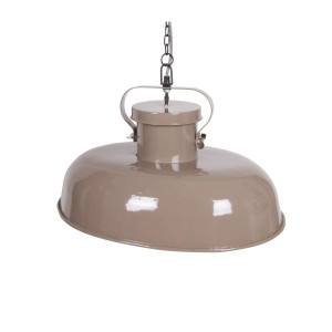 BePureHome Hanglamp 'Firm' Ovaal, kleur taupe