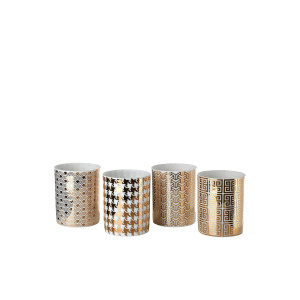 Pols Potten Light Refined Gold waxinelichthouder 8 cm set van 4