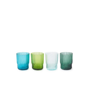 &Klevering Riffle glas 25 cl set van 4