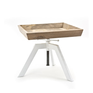By-Boo Bijzettafel 'Adjustable' kleur wit