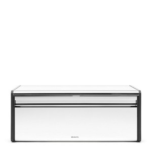 Brabantia Broodtrommel met Klepdeksel - Brilliant Steel/Matt Black