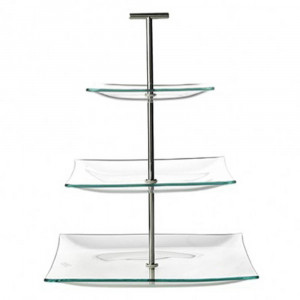 Cosy & Trendy Etagere Glas Vierkant 3 Laag