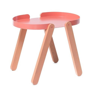 Puik Art Tepsi Sidetable Hout/Staal 56 cm - Roze