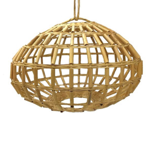 Lamp rond rotan open L