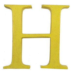 Kidsdepot Pure Metalen Decoratieletter - H