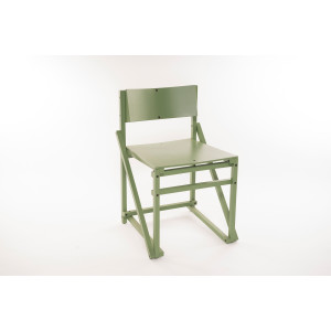 24mm Construct dining chair. - Machine green