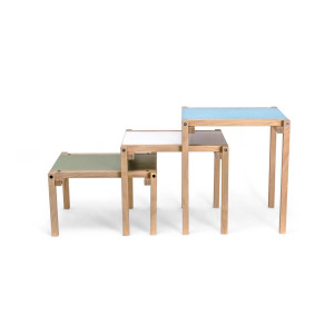 24mm Construction side table - Machine green 25 cm