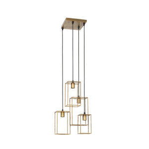 Light & Living Hanglamp 'Marley' 4-Lamps, antiek goud