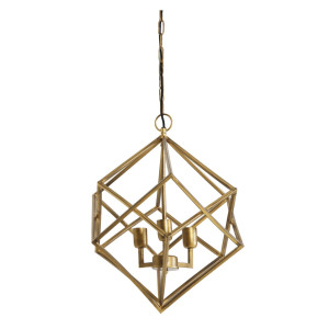 Light & Living Hanglamp 'Drizella' 3-Lamps, goud