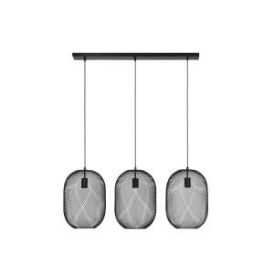 Light & Living Hanglamp 'Reilley' 3-Lamps, zwart