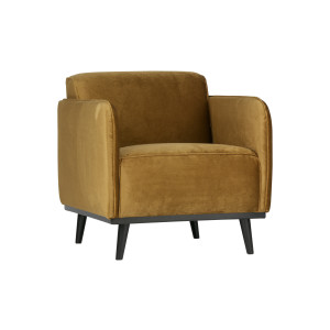 BePureHome Fauteuil 'Statement' Velvet, kleur Honey Yellow