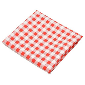 La Chaise Longue Bistrot Tafelkleed Ruit - Rood
