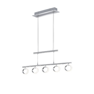 TRIO Hanglamp 'Corland' LED, 5-lamps