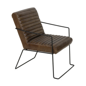 Light & Living Fauteuil 'Moriarty', leer bruin