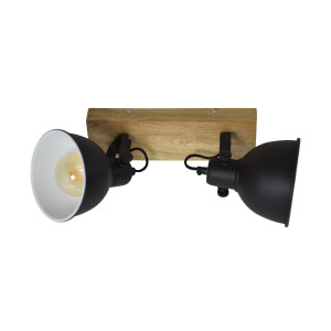 Urban Interiors Plafondspot Woody Double, kleur Vintage Black