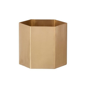 Ferm Living Hexagon Pot Goud - 9 cm