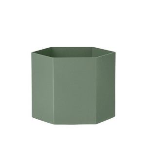 Ferm Living Hexagon Pot 16 cm - Dusty Groen