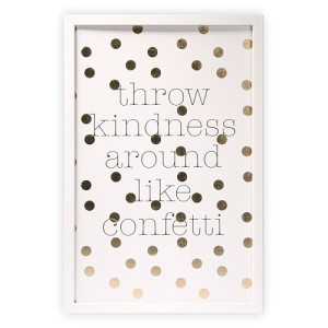 Graham & Brown Black&White Print in Lijst - Kindness
