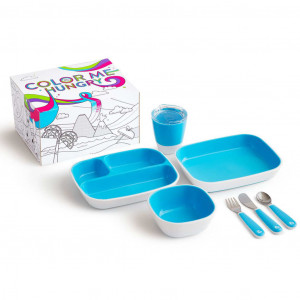 Munchkin 7-delige Eetset Color Me Hungry blauw