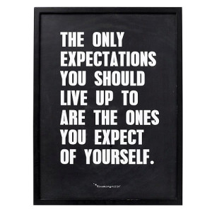Bloomingville Tekst in Lijst Zwart - The Only Expectations you should live up to are the ones you expect of yourself