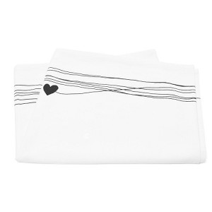 vtwonen Stripes with Heart Tafelloper - 60 x 180 cm